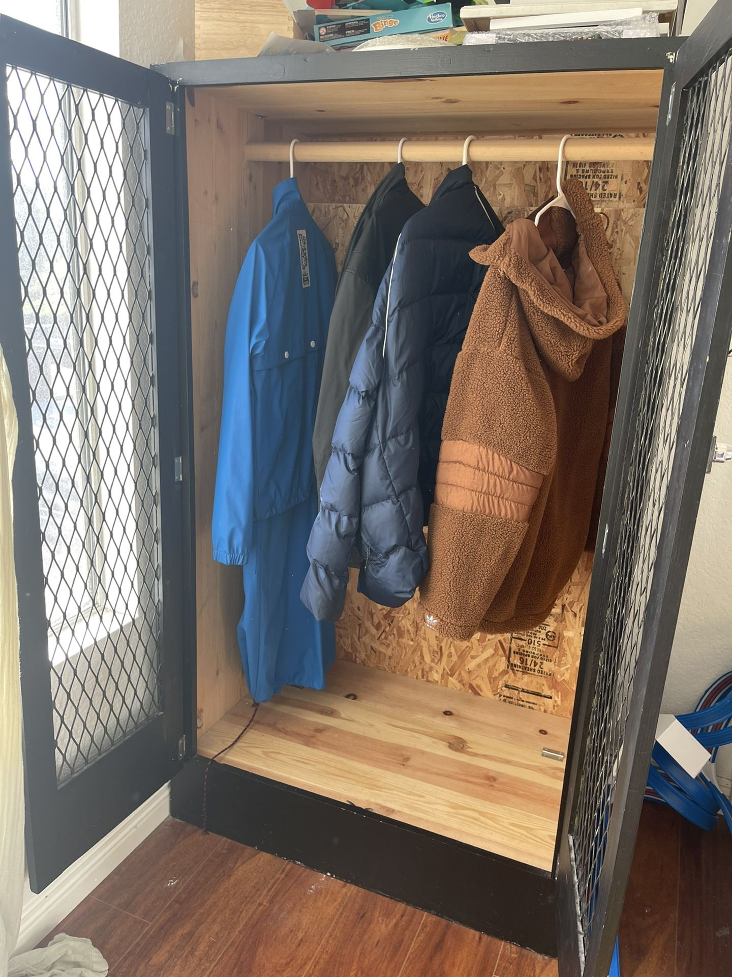 Vintage storage locker armoire Shabby Chic