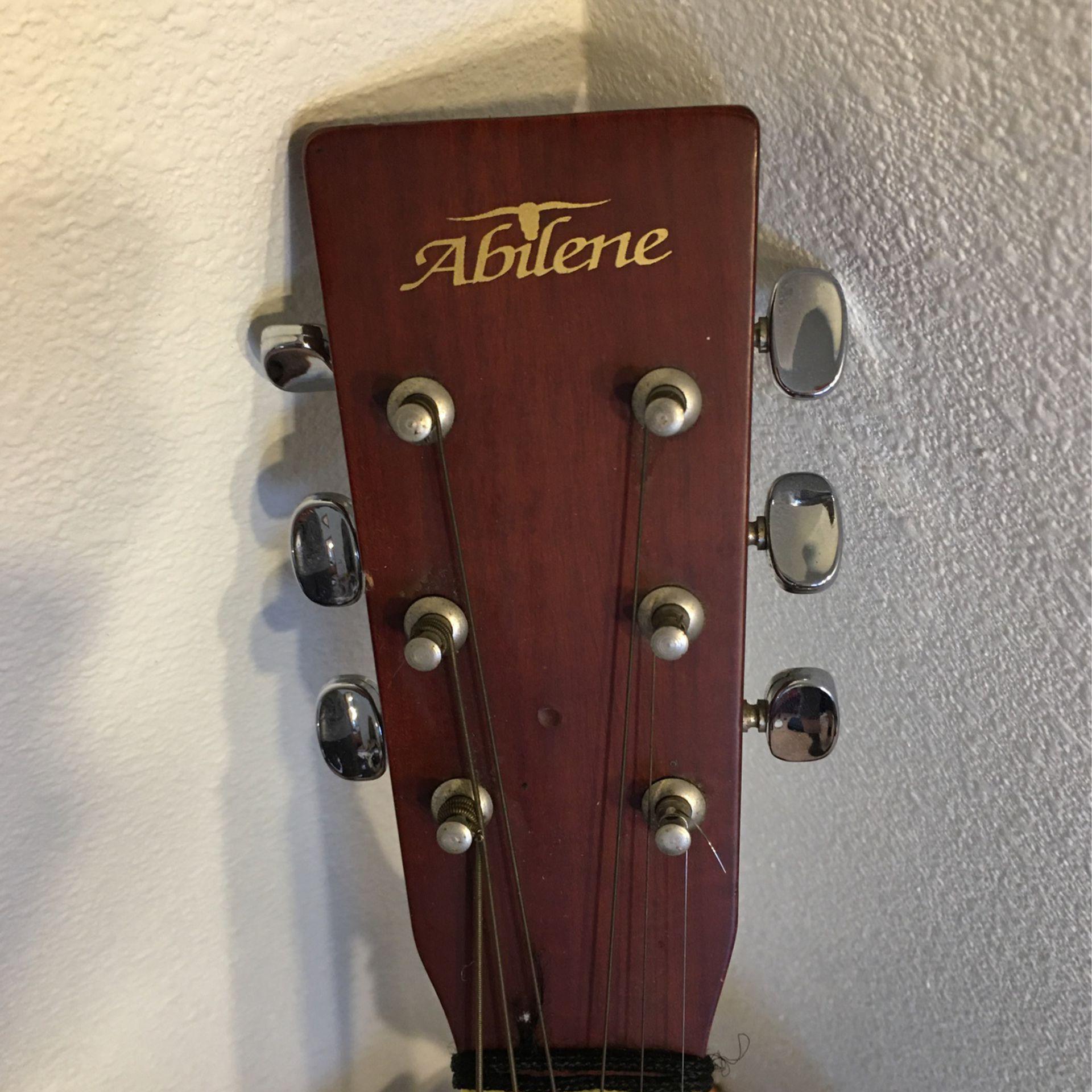 Abilene AF-006 3/4 Size 6 String Acoustic Guitar w/Gig Bag