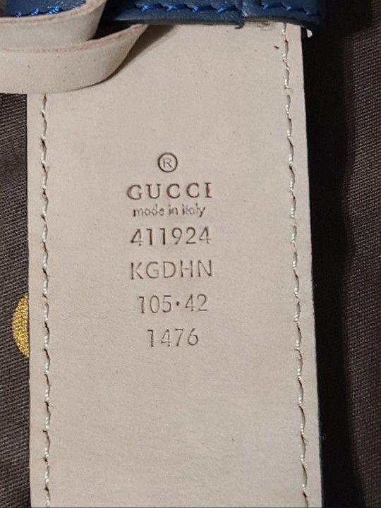 🔥Authentic Gucci Belt Blue Supreme Monogram  GG