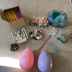 Assorted Easter Decor And Plastic Eggs Thumbnail