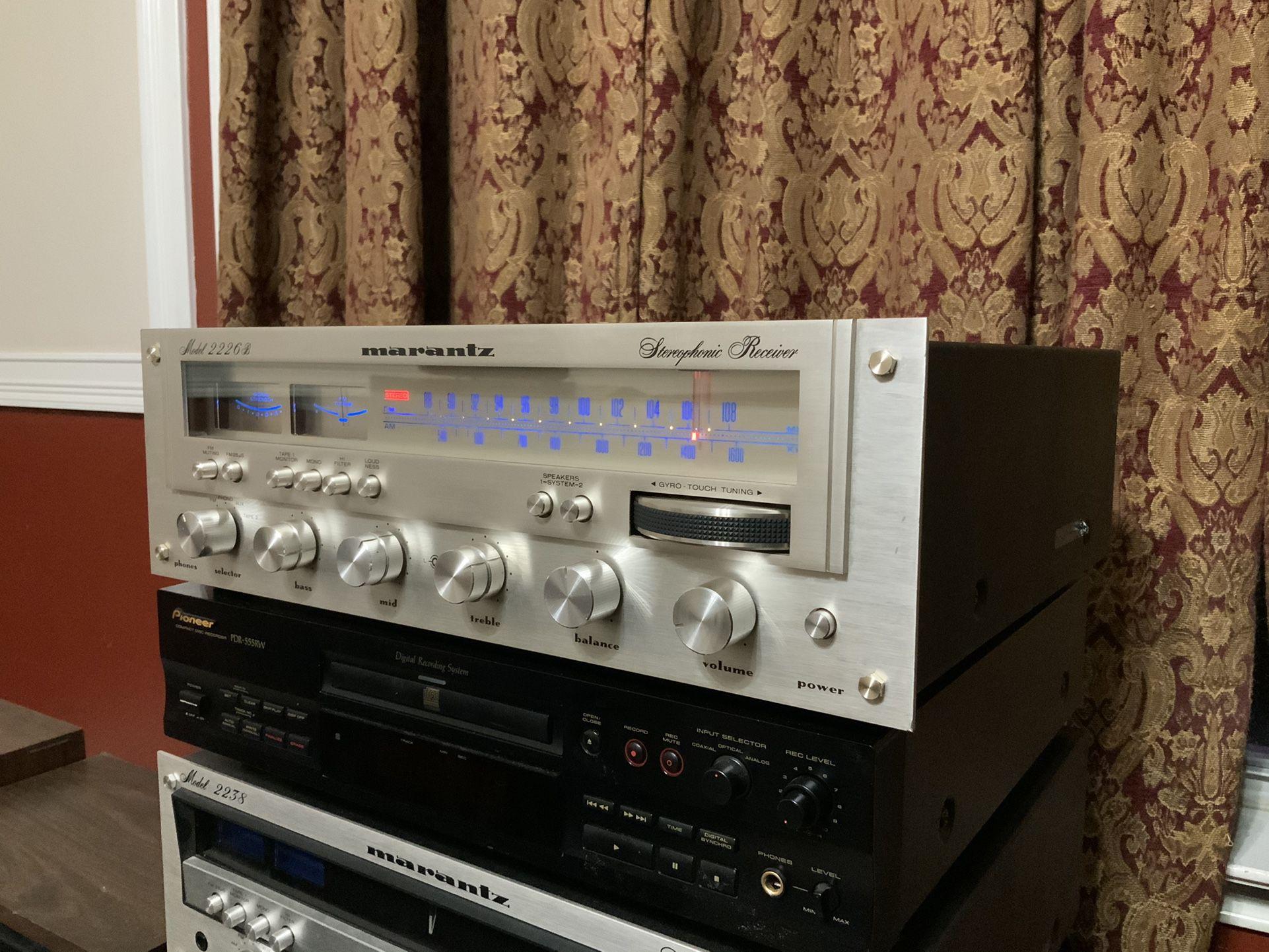 Vintage Marantz 2226B Stereo Receiver Audiophile