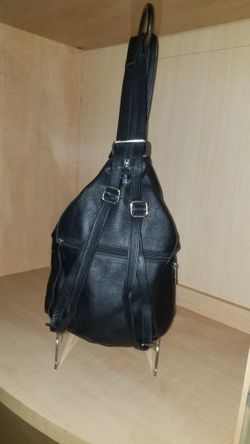 Alpine Swiss Leather Carrying Bag/backpack  Thumbnail