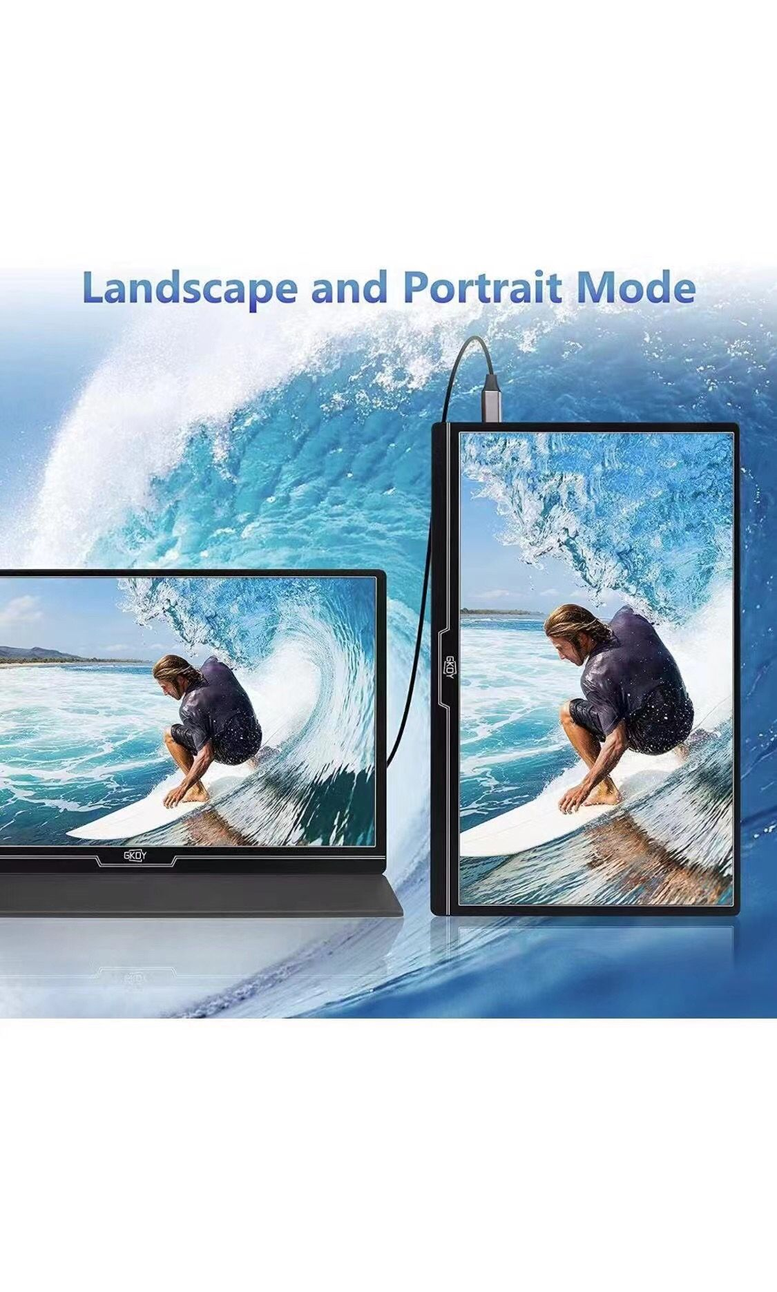 Portable Monitor 15.6 Inch 100% SRGB 1080P Gaming Monitor FHD Portable Laptop Monitor 1920 x 1080 IPS 178° Screen Eye Care Display with HDMI USB Type-