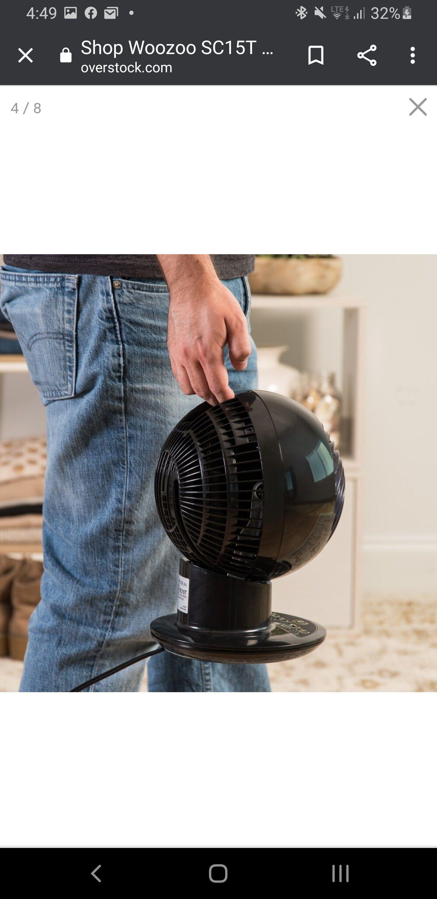 Woozoo globe oscillating fan