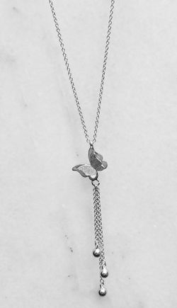 Butterfly Italy Silver Necklace  Thumbnail