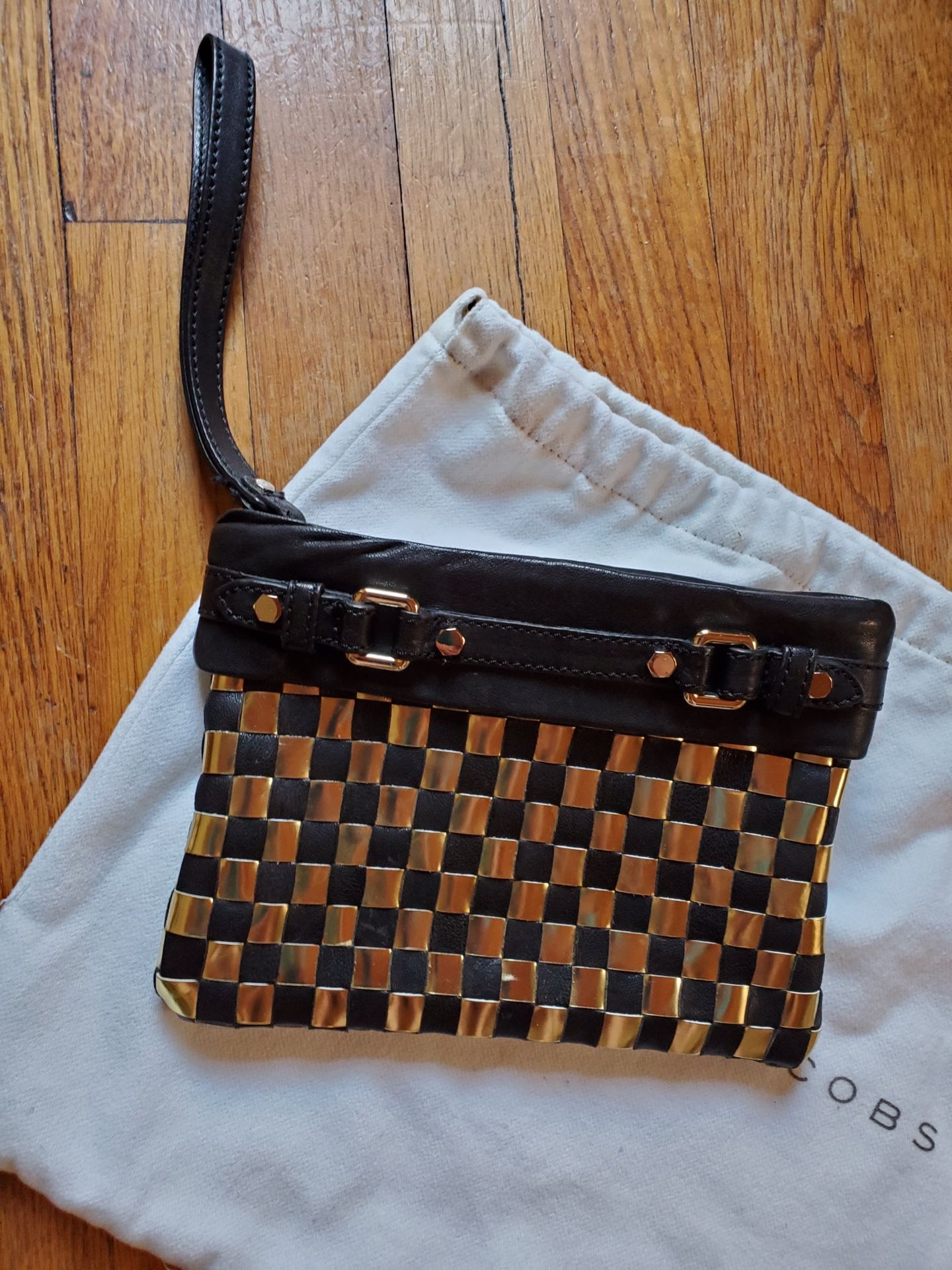 Marc By Marc Jacobs Check Leather Wristlet