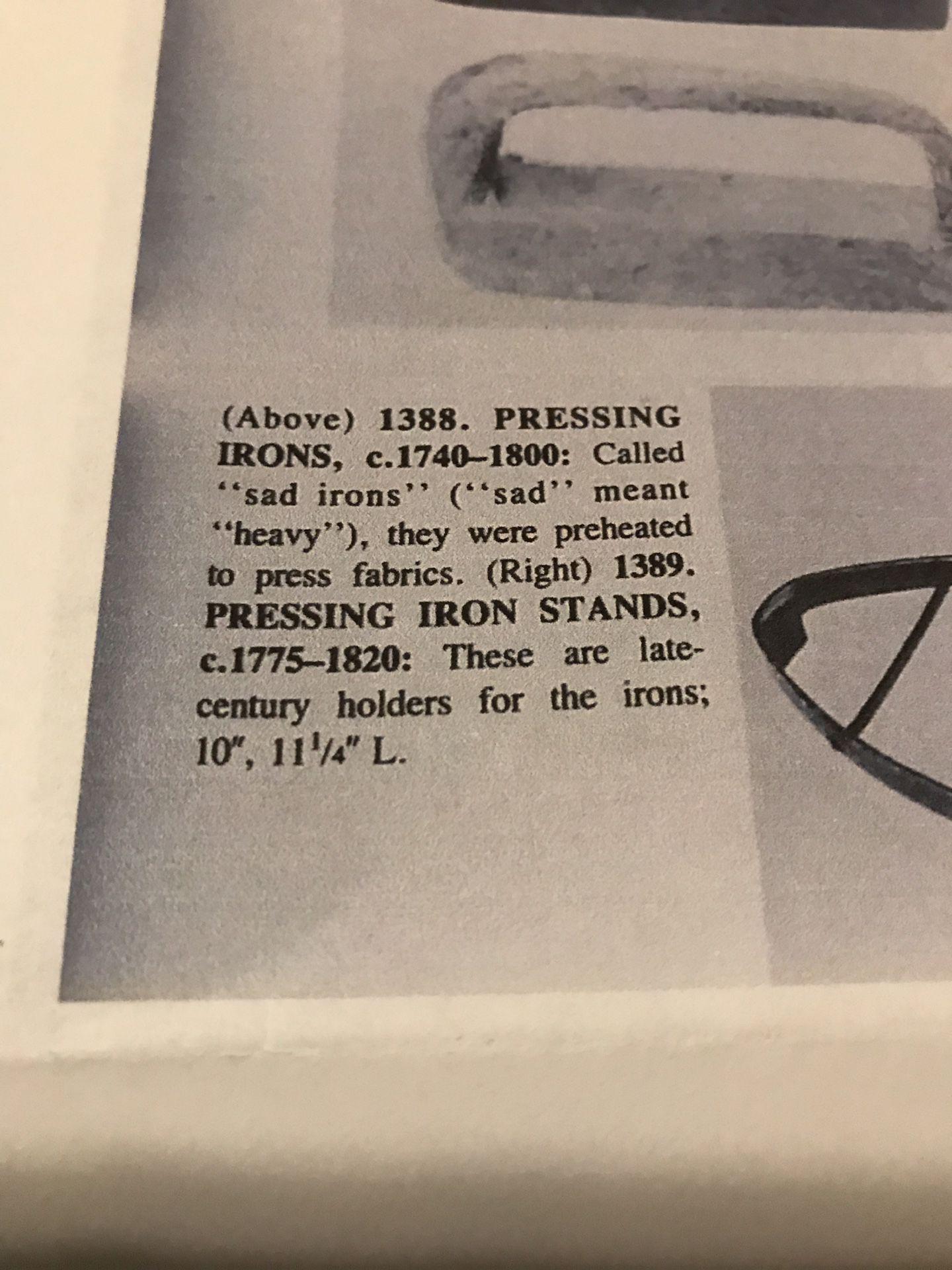 Hand Pounded Metal Sad Iron