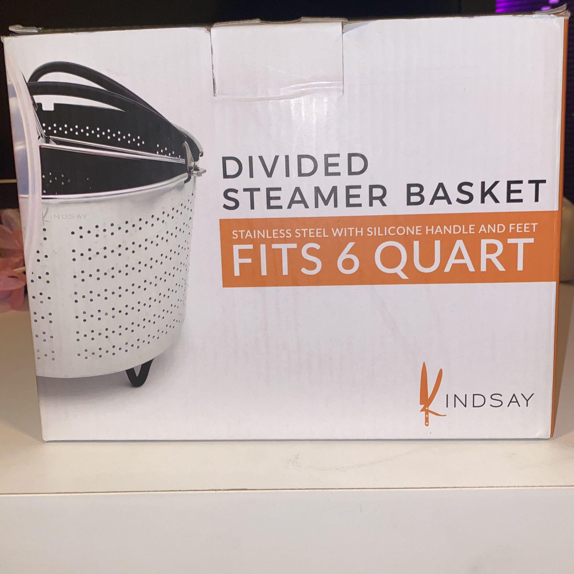 Kindsay Divided steamer basket