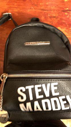 Steve Madden Black Bailey Mini Backpack Thumbnail