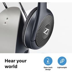 Sennheiser RS120 II On-Ear Wireless RF Headphones with Charging Cradle Thumbnail
