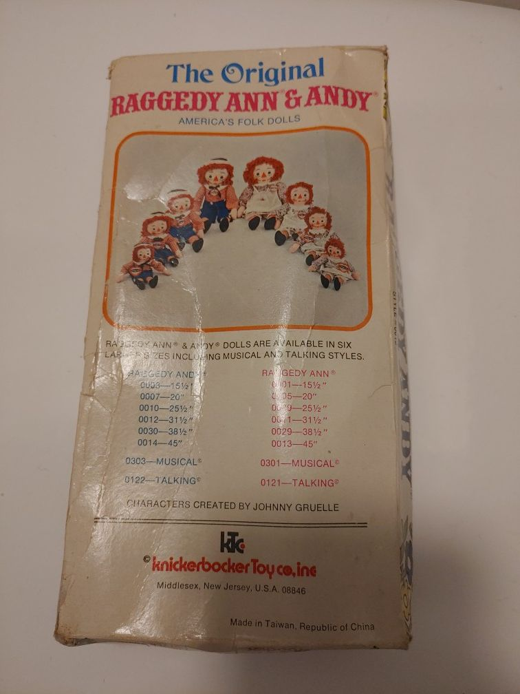 Raggedy Andy Doll
