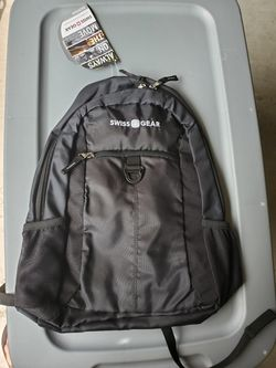 NEW Swiss Gear Student Backpack Black/Black Zipper with Padded Laptop Compartment