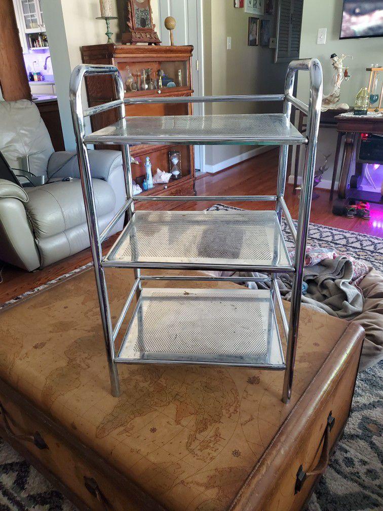 27in X 16in X 12in Chrome Three Shelf Stand