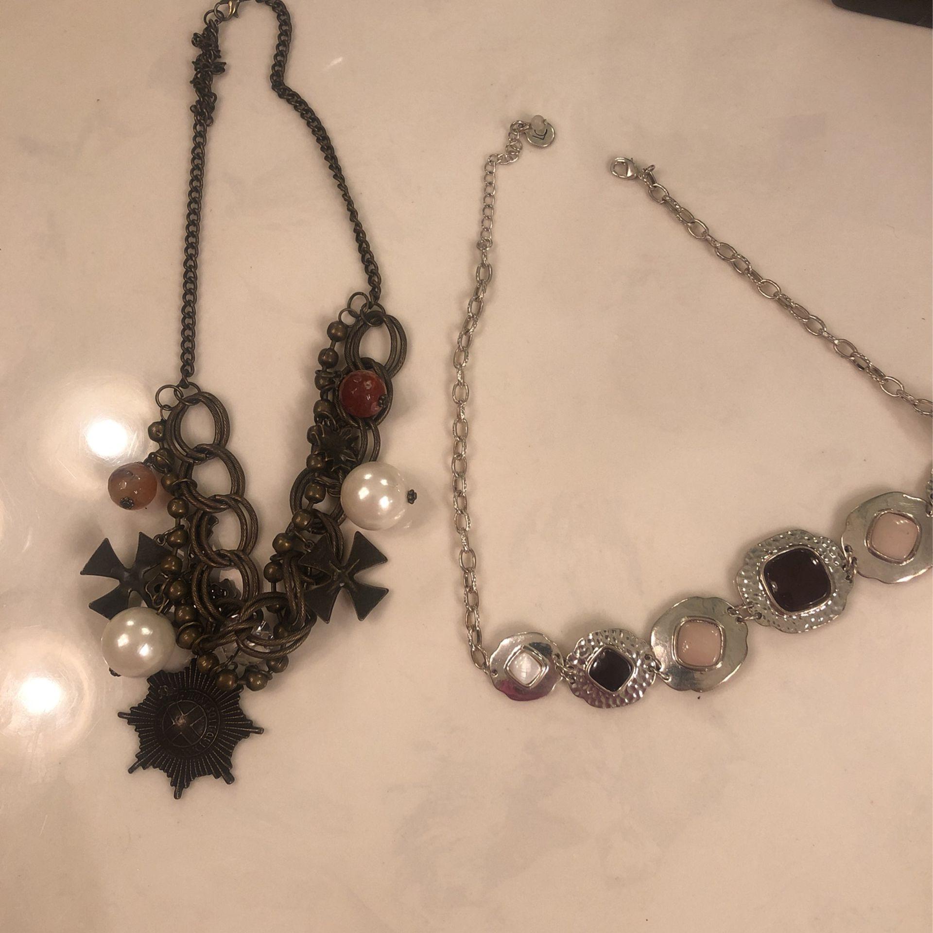 Two unique choker necklaces