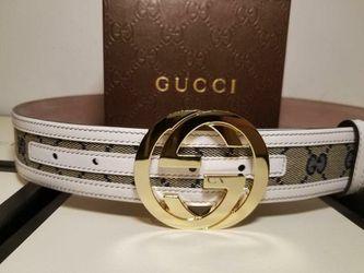Gucci Supreme White/ Blue Authentic Belt  Thumbnail