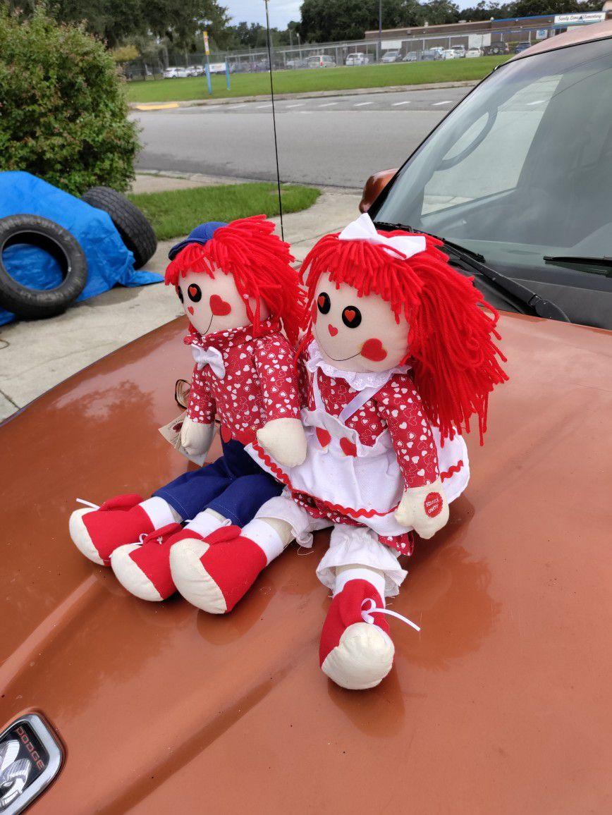 raggedy ann & andy Sining Dolls sining i got you babe by sonny & cher