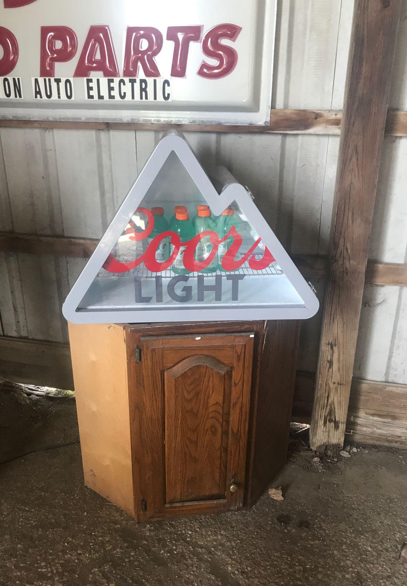 Coors light mini fridge led
