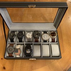 12 Slot Watch Holder With Watches Thumbnail