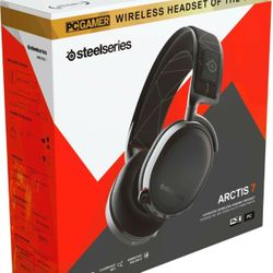 SteelSeries Arctis 7 Wireless DTS Black Gaming Headset for PC and PlayStation Thumbnail