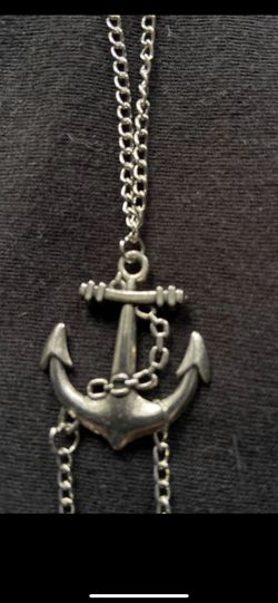 Sterling silver 925 anchor bracelet or anklet. Thumbnail