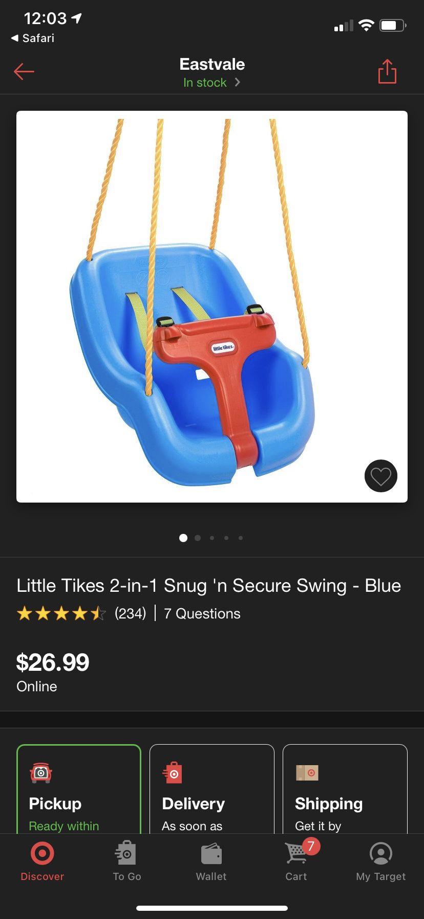 2 Little Tikes Swings