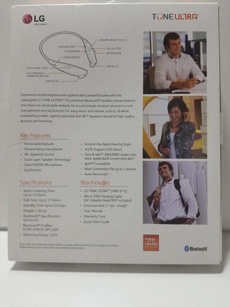LG TONE ULTRA HBS-810 Wireless Stereo Headset. JBL sound. Bluetooth  New in box