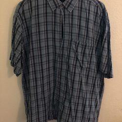Blue Plaid Button Up T Shirt // Pocket T Shirt // 90's // Y2K // Skateboards // Classic // Work Shirt // Dress Shirt // Slacks // Tucked In // Sunday  Thumbnail