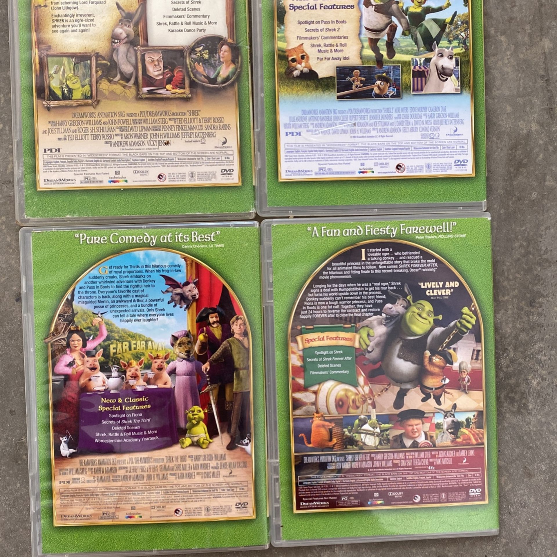 Shrek Collection Of Movies Classics Original