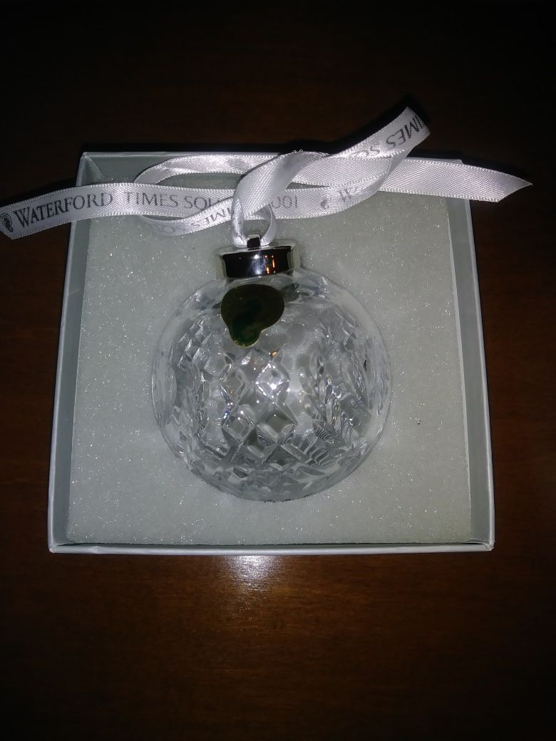 New Waterford crystal ornament