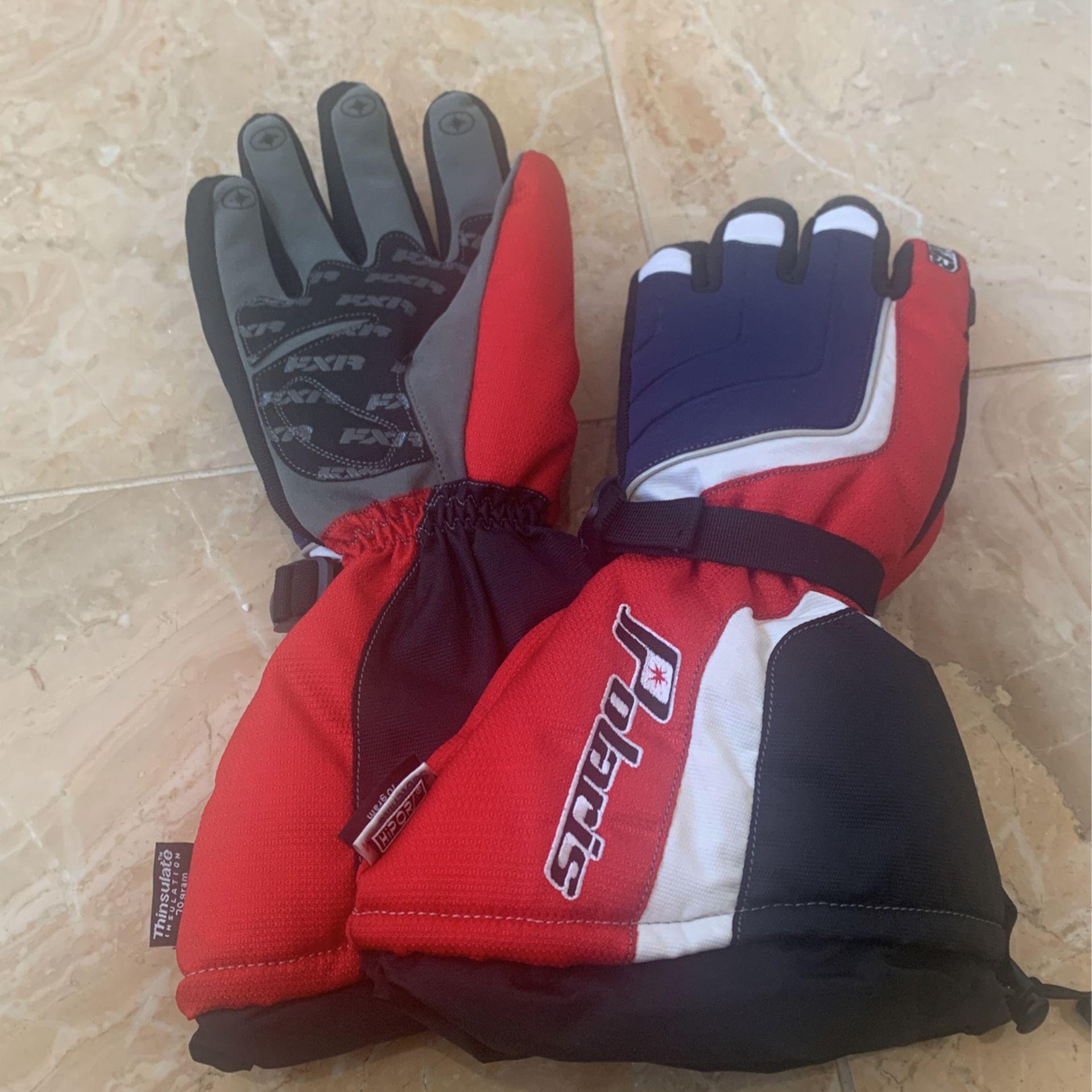 Polaris Black Snowmobile Gloves