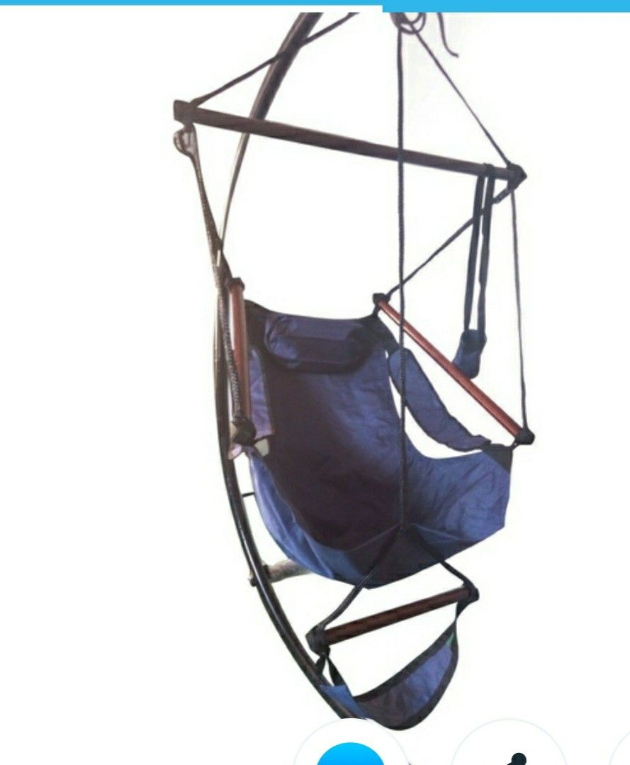 Hanging chair with foot rest