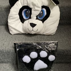 Halloween Panda Head Mask Costume Thumbnail