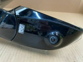 14-20 INFINITI Q50 RIGHT PASSENGER SIDE VIEW DOOR MIRROR W/ CAMERA WHITE Thumbnail