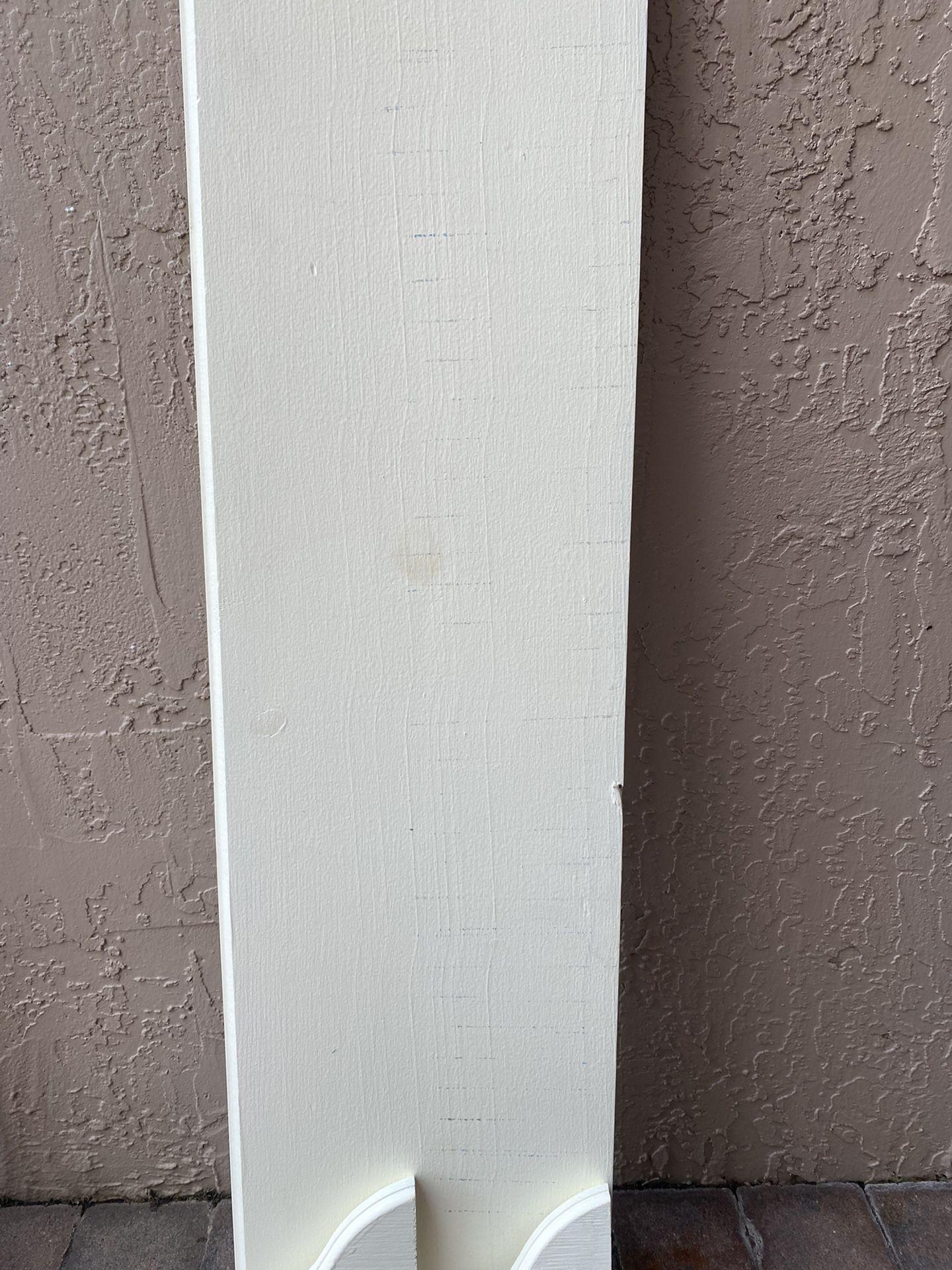 2 White Wooden Shelves