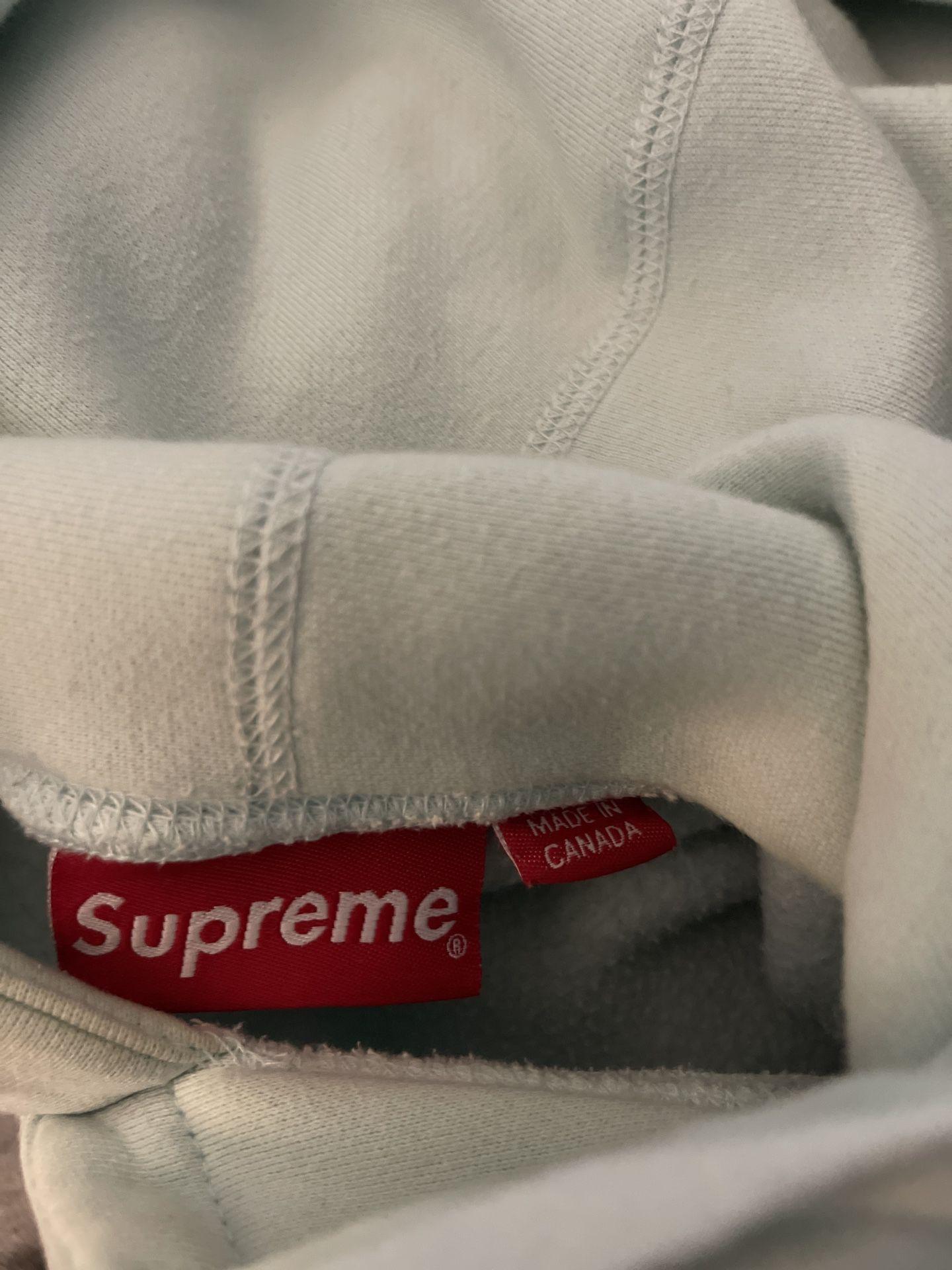 Supreme Box Logo Hoodie (Ice Blue)