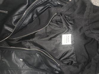 Women's Leather Jacket- Black Thumbnail