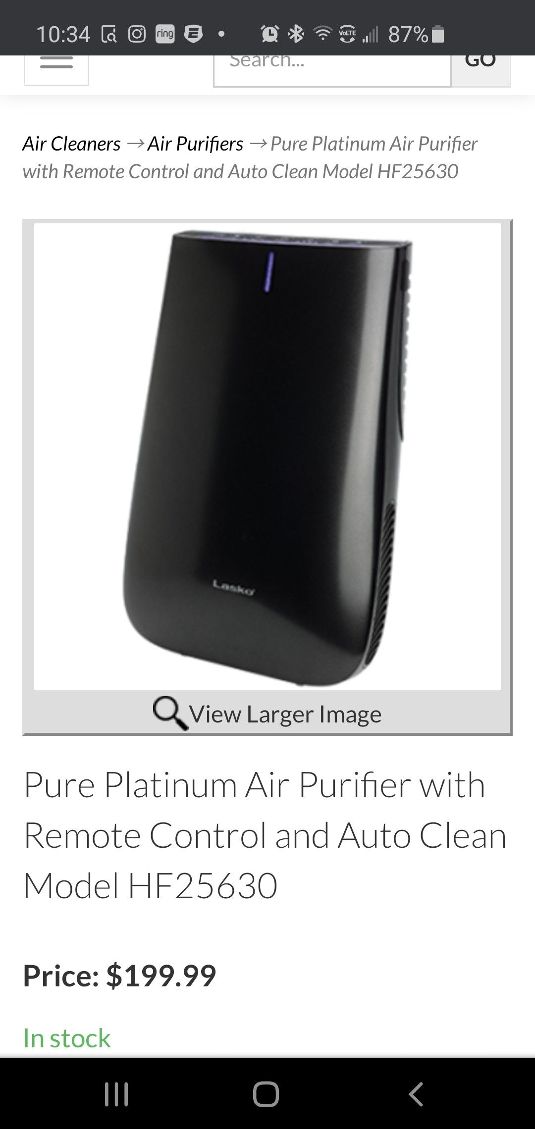 Lasko humidifier