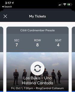 2 Boletos En Frente Los Bukis Oct. 1 $220cu  Thumbnail