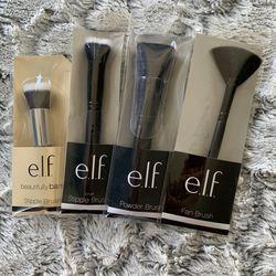 NIB e.l.f. 4pc Makeup Brushes Set A Thumbnail