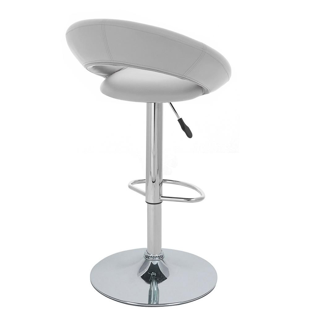 """Set of 4 Modern Home Rho """"Leather"""" Contemporary Adjustable Height Counter/Bar Stool (Vanilla White)"""