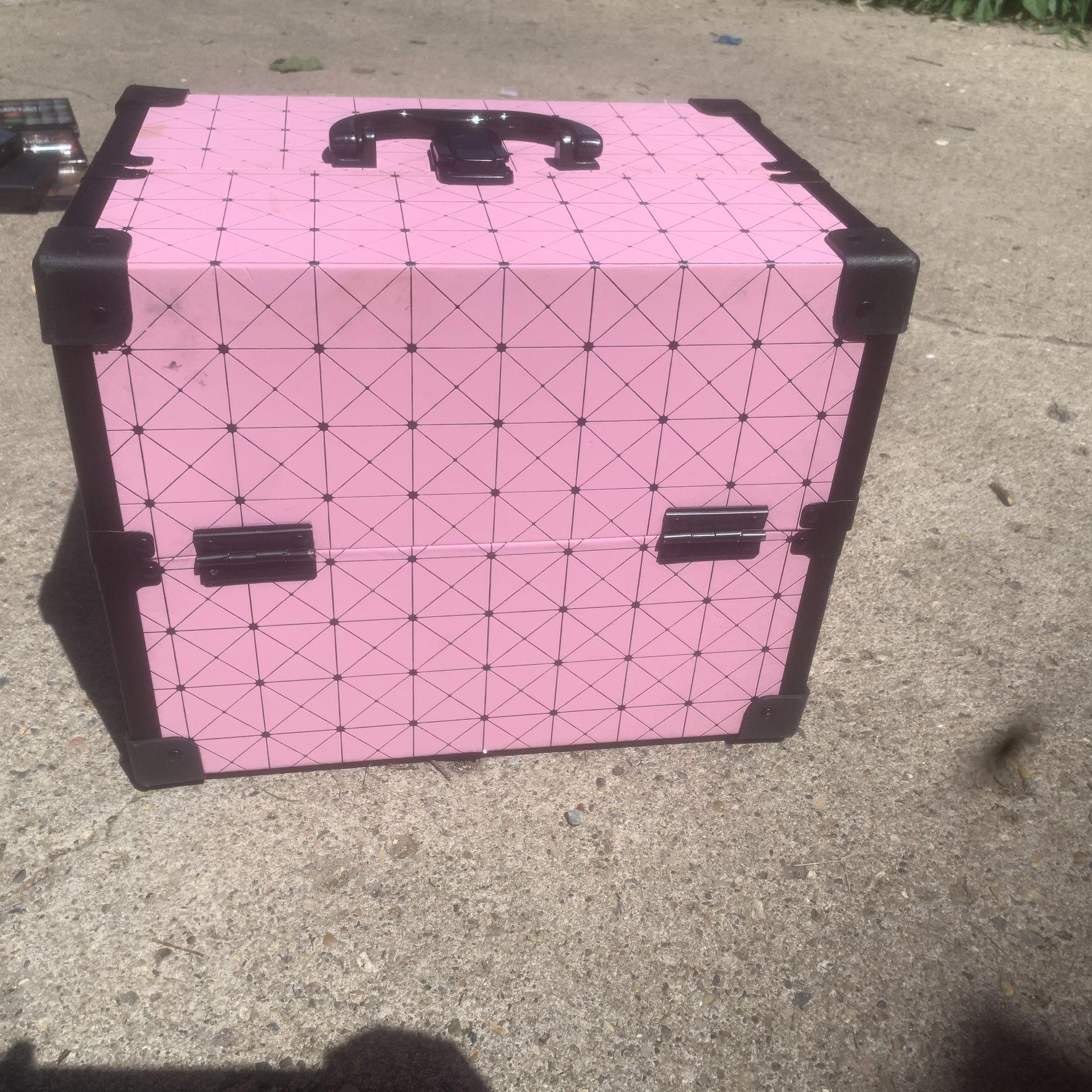 Makeup box with makeup products