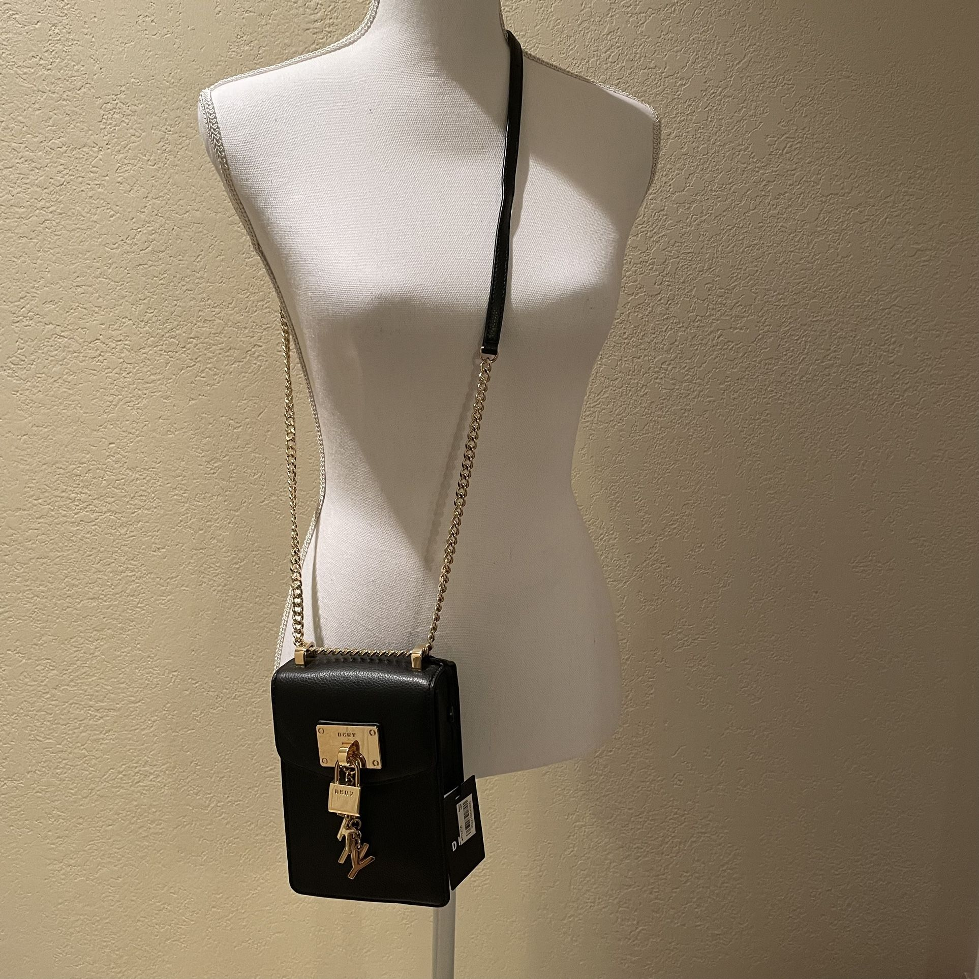 NWT DKNY Black & Gold Crossbody Purse