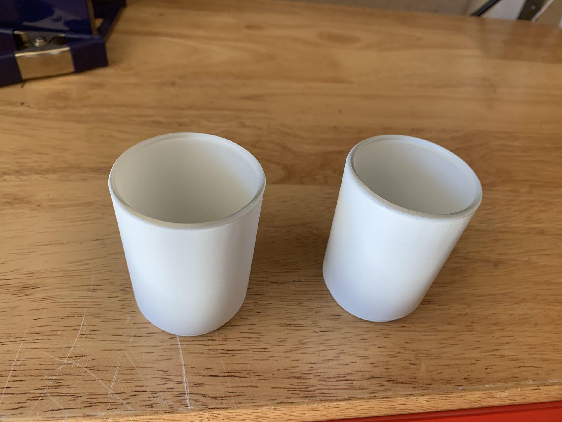 32 White Tea Light Holders For Wedding