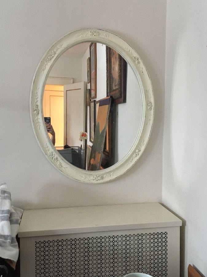 White, Oval Mirror