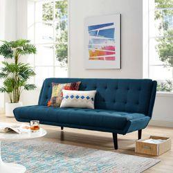 Glance Tufted Convertible Fabric Sofa Bed (3093-AZU) Thumbnail