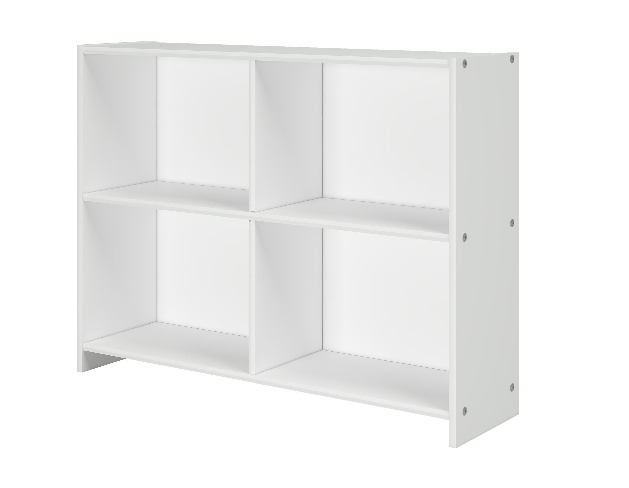Pivot Direct Bookcase In White Finish PD_780D_TW