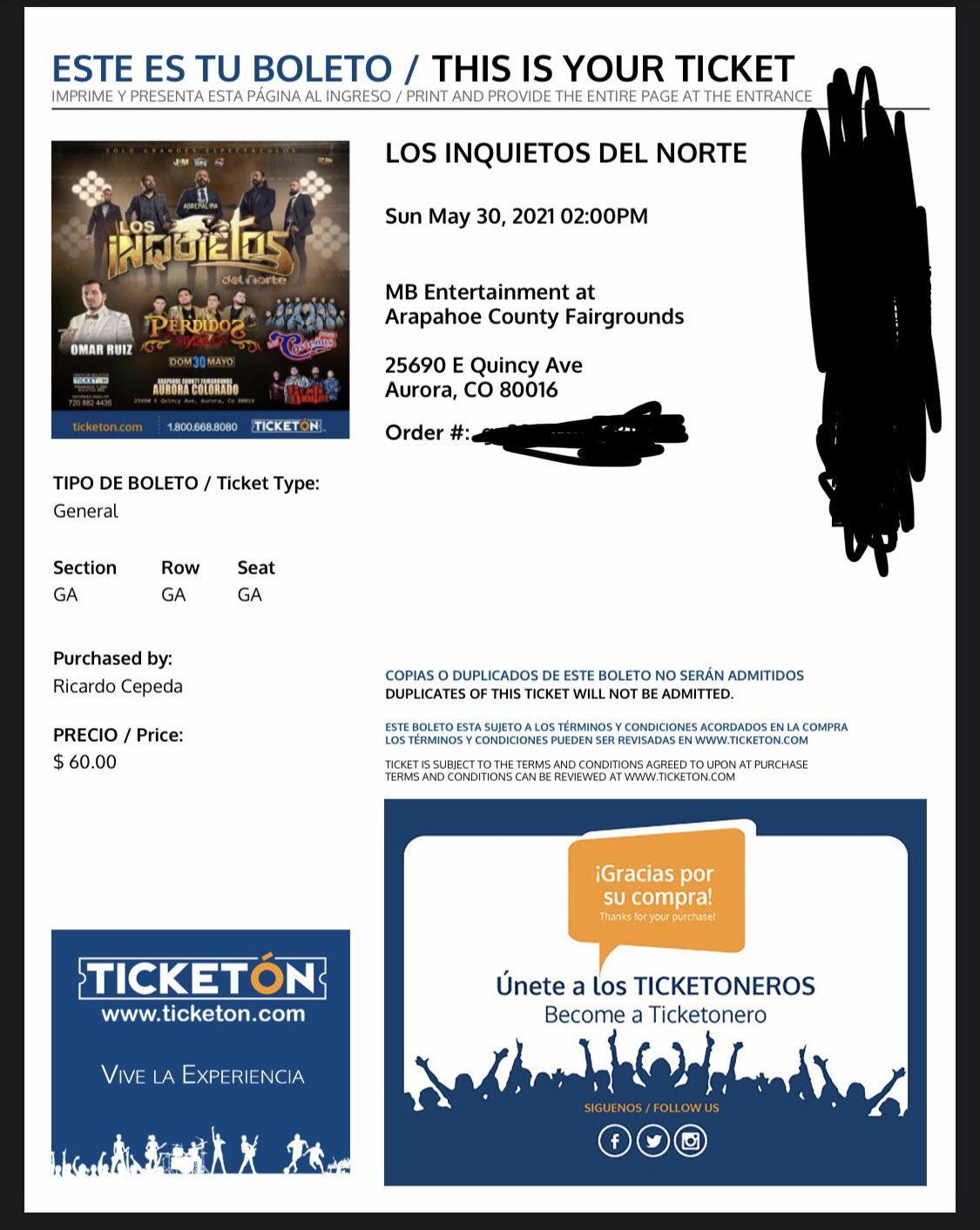 Los Inquietos Ticket Electronico Free