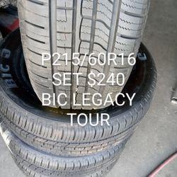 BIC LEGACY TOUR P215/60R16 SET 89%100 Thumbnail