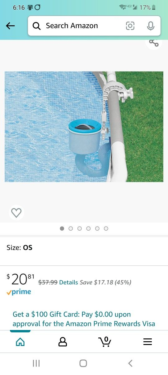 Intext Deluxe wall mount surface pool skimmer