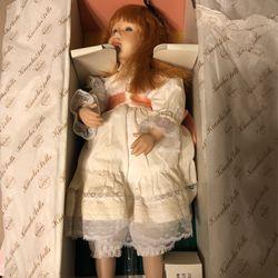 Polly's Tea Party Porcelain Doll Thumbnail